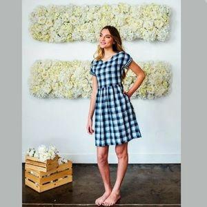 Shabby Apple blue plaid Alexia dress